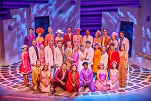 MAMMA MIA! London 2017 - 2018 cast. Photo by Brinkhoff/Mögenburg