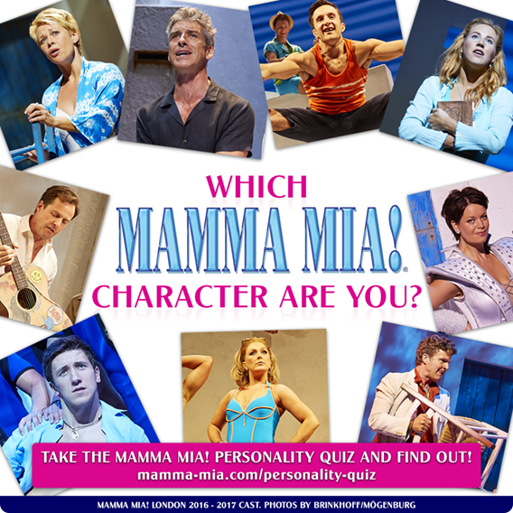 Which MAMMA MIA! Character Are You Most Like?