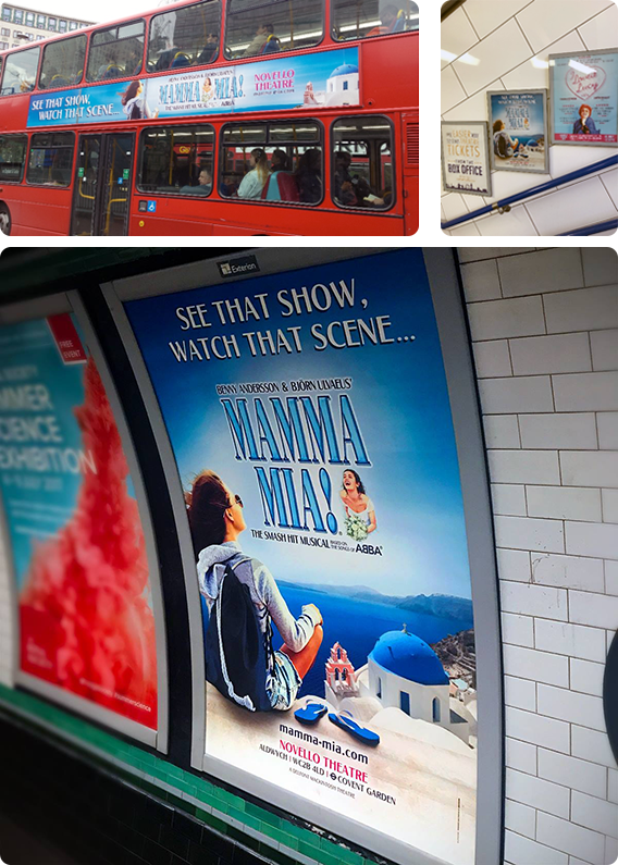 MAMMA MIA! LONDON SUMMER ARTWORK