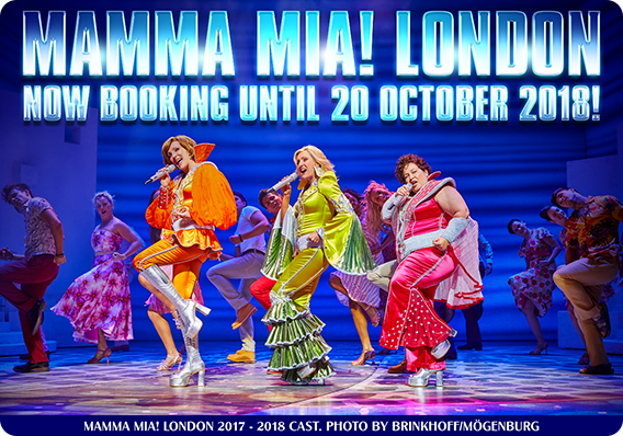 The global smash hit musical MAMMA MIA! at London's Novello Theatre is now extending its booking period until 20 October 2018