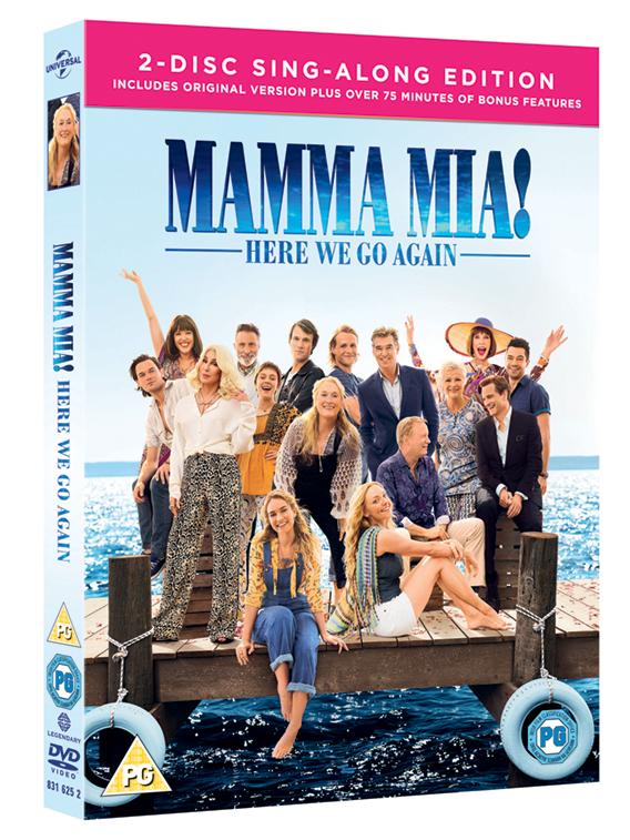 MAMMA MIA! HERE WE GO AGAIN BLU-RAY AND DVD