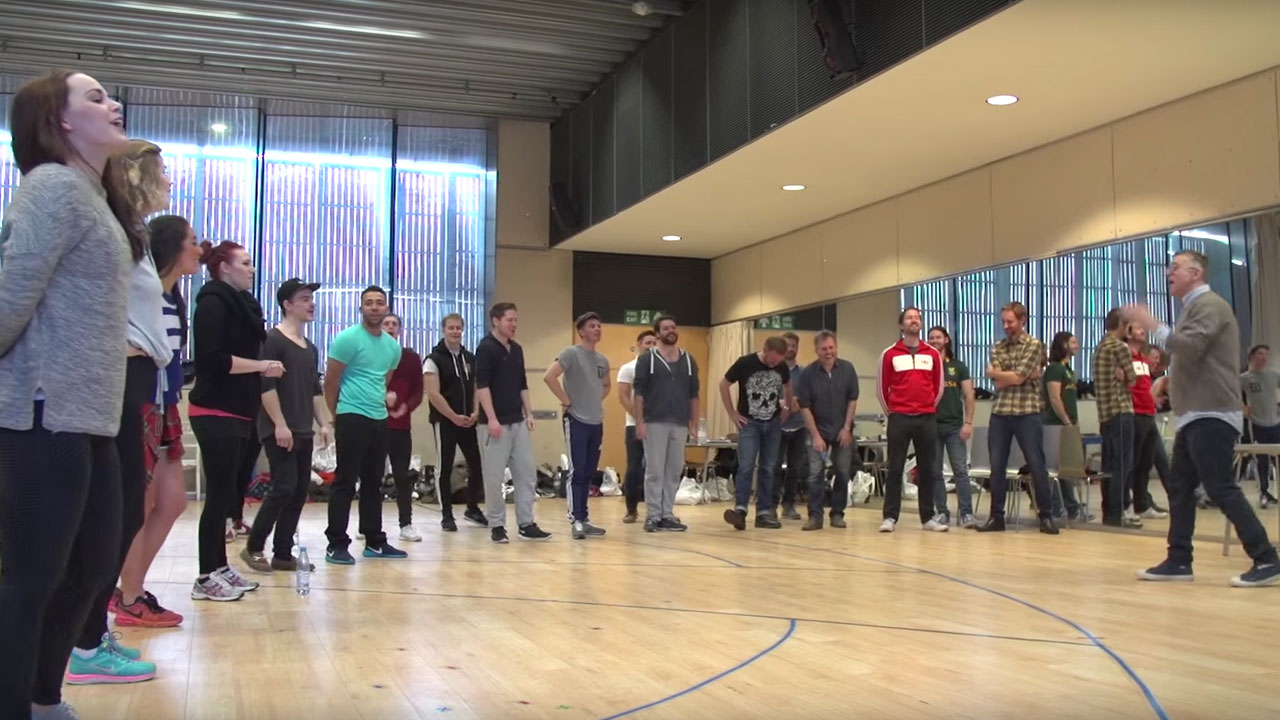Behind-the-scenes at the MAMMA MIA! UK Tour's first cast rehearsal!